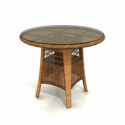 3d wicker garden table 01 model