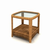 maya wicker garden small table furniture