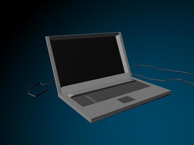 3d computer laptop