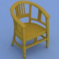 3d handmade furniture armchair model