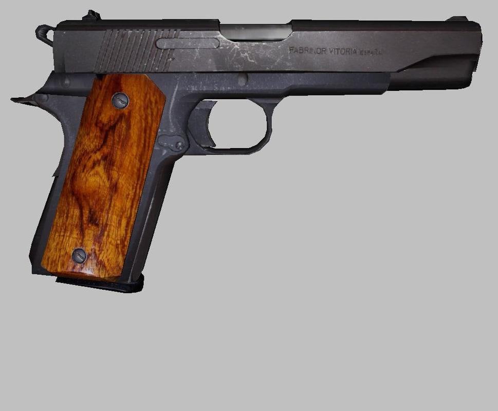 3d 1911 45 pistol model