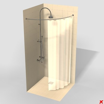 shower cabin 3d max