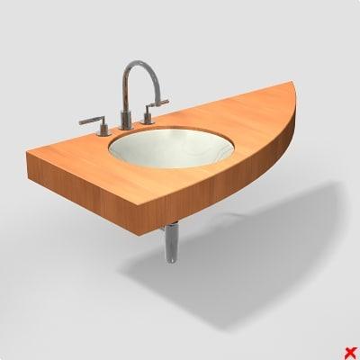 sink basin 3d max