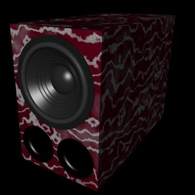 subwoofer speaker 3d model