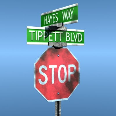 3dsmax stop sign