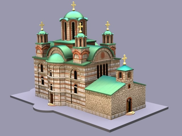 free ravanica church 3d model