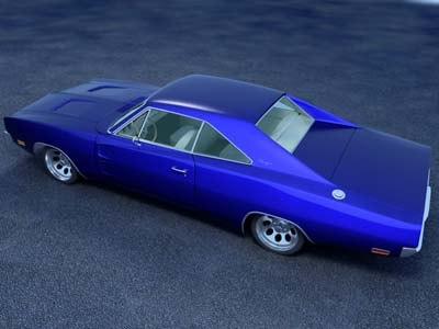 dodge charger 3d max