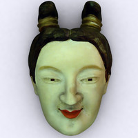 mask japanese woman 3d max