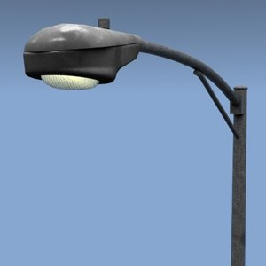 streetlamp lamp street 3d lwo
