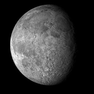 3d moon lunar model