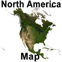 topographic north america 3d model