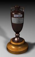ashes trophy 3d c4d