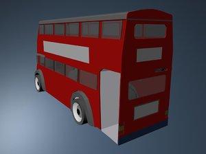 3d london bus model