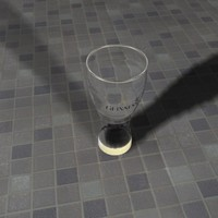 3d model lager glass beer