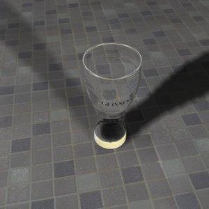 3d model lager glass beer