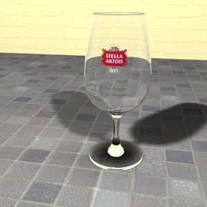belgian beer glass 3d max