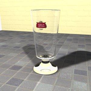 belgian beer glass 3d max