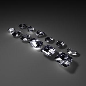 12 diamonds 3d model