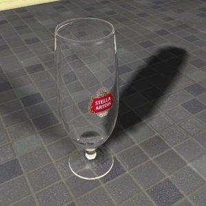 3ds max belgian beer glass