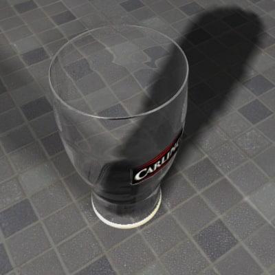 guinness glass 3d model
