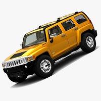 3dsmax hummer h3 cars