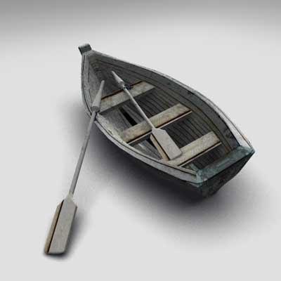 3d boat oars