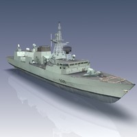 halifax class patrol frigate 3d model
