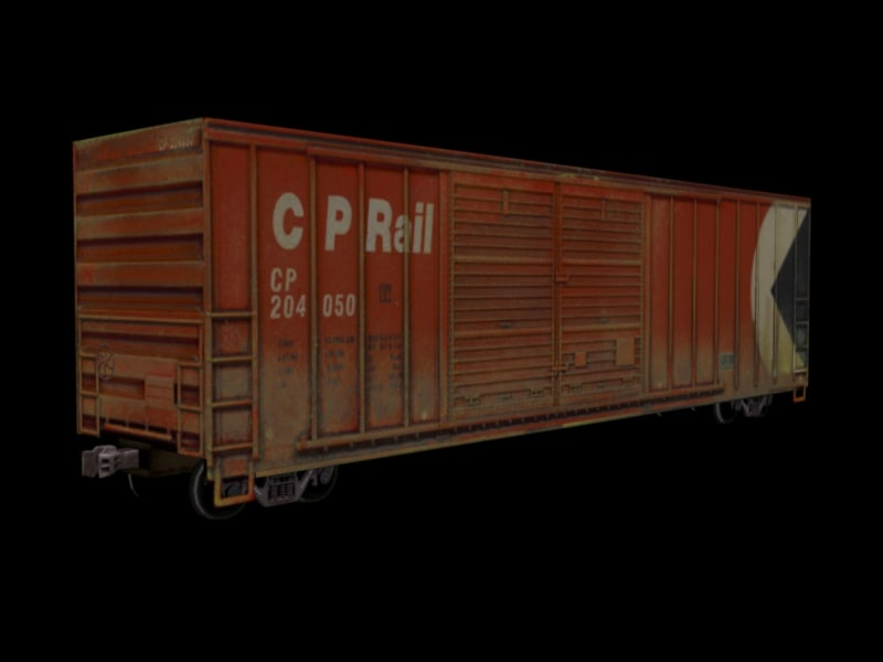 3d boxcar canadian pacific