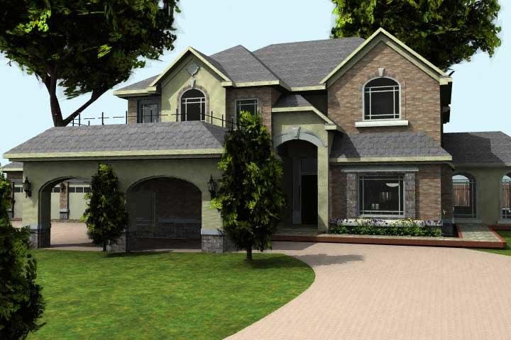 luxury home - 3d model