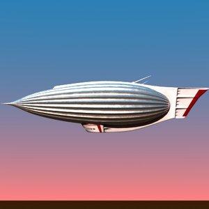 3d futuristic blimp