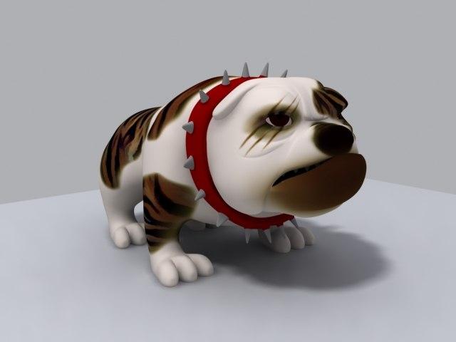 3d model bulldog animation