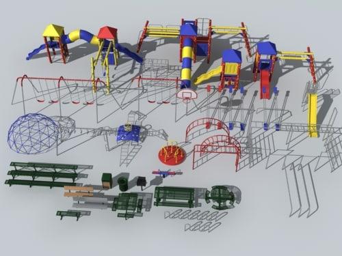 playground park table 3d model