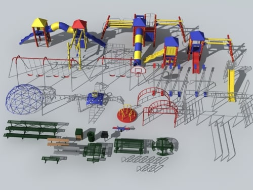 playground park table 3d model