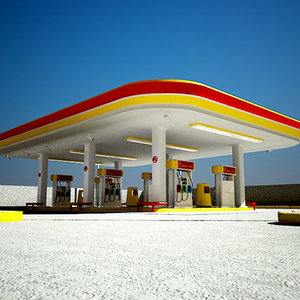 gas station self 3d model