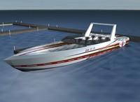 3d racer boat model