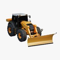 snowplow tractor 3d model