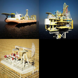 3ds max pump fpso drill