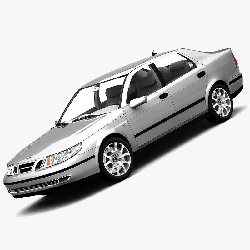 3d saab 9-5 sedan 2005 model