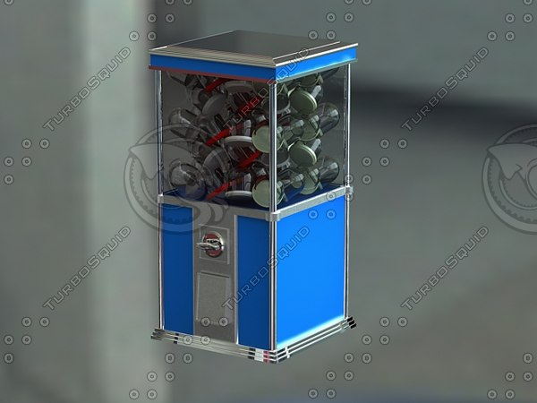 3ds max candy toy vending machine