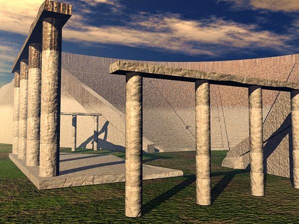 roman greek ampitheater coliseum 3d model