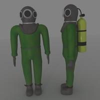 3d model of diver