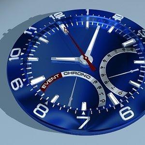 3d model watch face