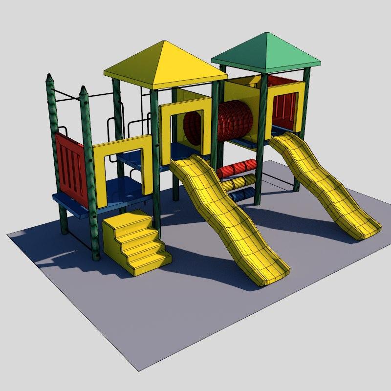 playground set 3d model