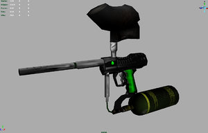 paintball gun paint 3d model