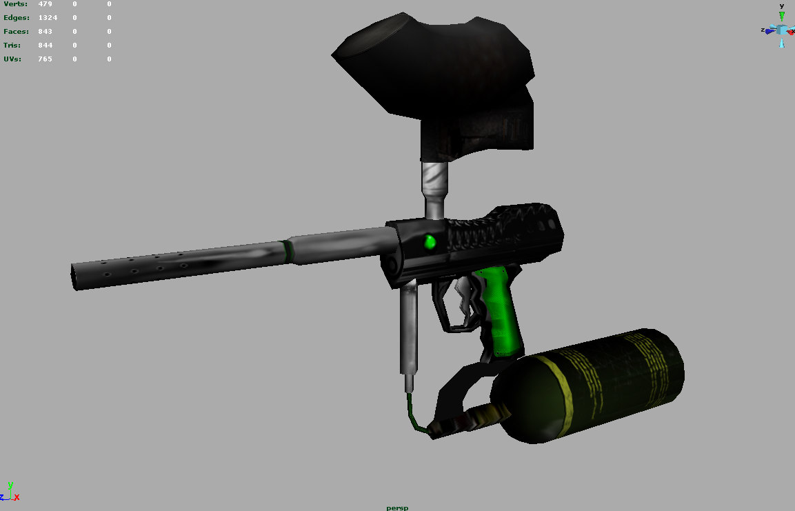 paintball gun paint 3d model