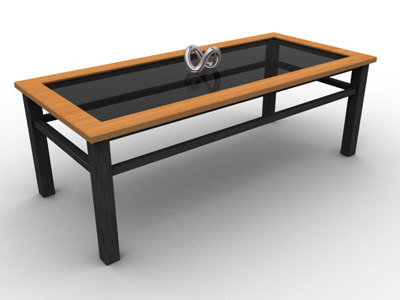 modern coffee table glass 3d model