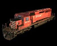 sd40-2 locomotive 3d 3ds