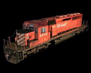 sd40-2 locomotive 3d 3ds