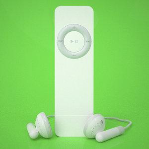 3d apple ipod shuffle model