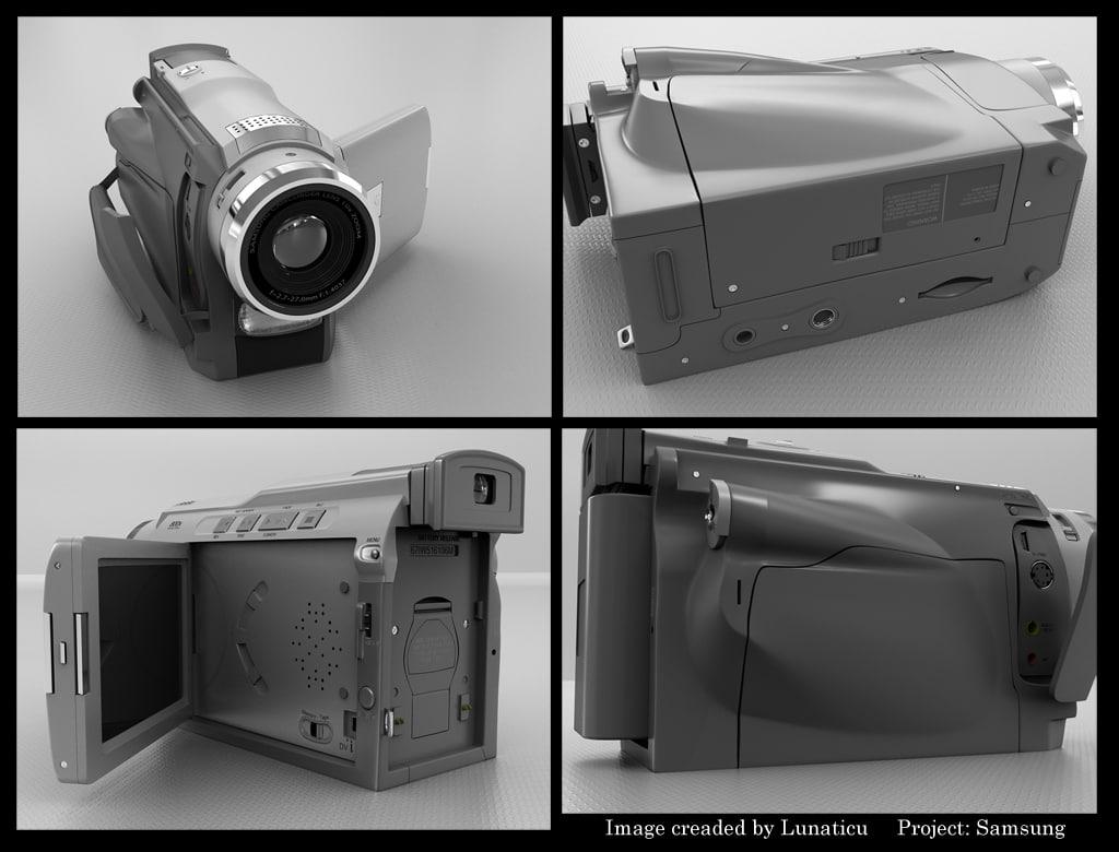 3d model of video camera zipped